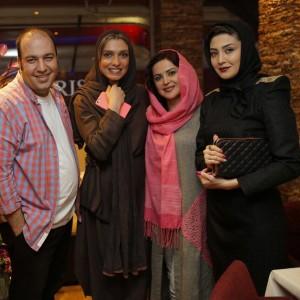 مریم معصومی در کنار سه بازیگر / عکس