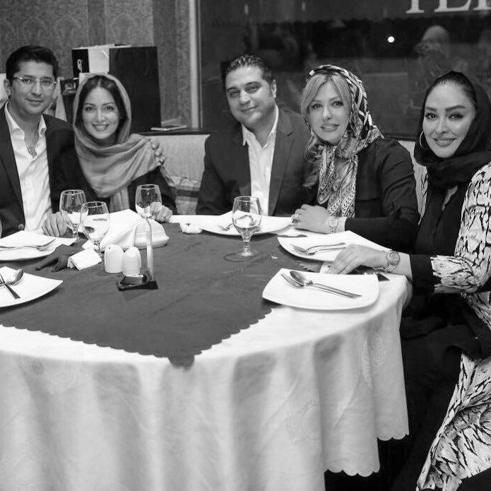 شیلا خداداد و نیوشا ضیغمی با همسرانشان / عکس