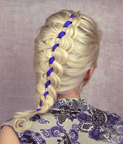 مدل شیک از بافت موی دخترانه