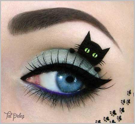 مدل آرایش چشم فانتزی با طرح های عروسکی