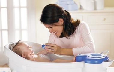 تعداد دفعات حمام کردن کودکان و نوزادان