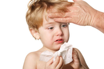 نحوه پایین آوردن تب کودکان