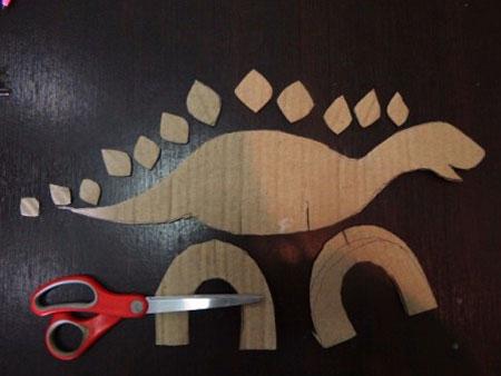 آموزش تصویری کاردستی دایناسور برای کودکان