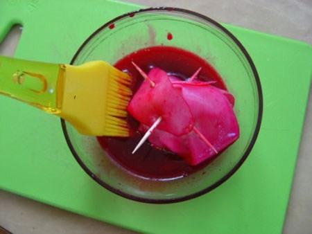 آموزش تزیین ترب و هویج به شکل گل رز