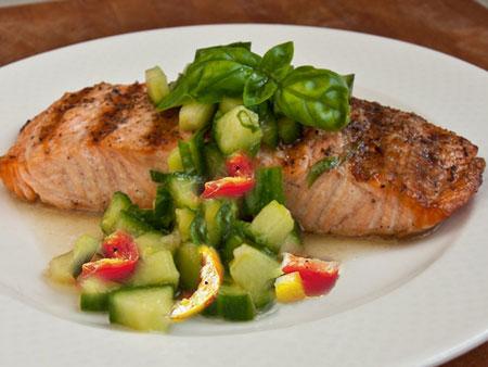 آموزش درست کردن ماهی سالمون با ریحان