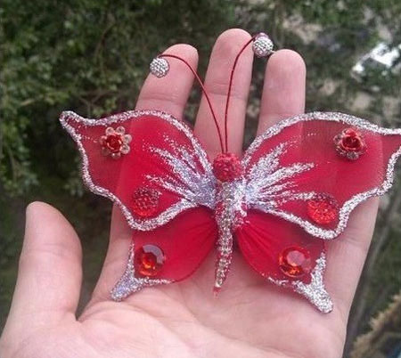 آموزش تصویری ساخت پروانه تزیینی