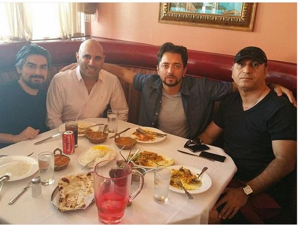 حمید فرخ نژاد در کنار بهرام رادان / عکس