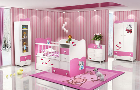 مدل جذاب از سرویس خواب نوزادی دخترانه و پسرانه