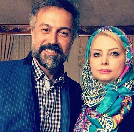 دانیال حکیمی در کنار همسرش / عکس