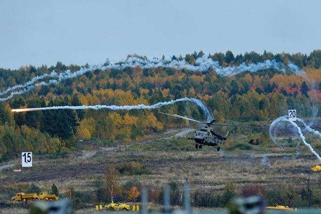 نمایش جالب و دیدنی بالگردهای روسی / عکس