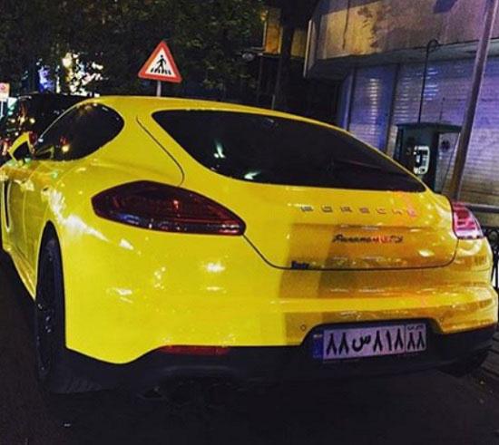 جالب ترین ماشین در تهران با پلاک خاص! / عکس
