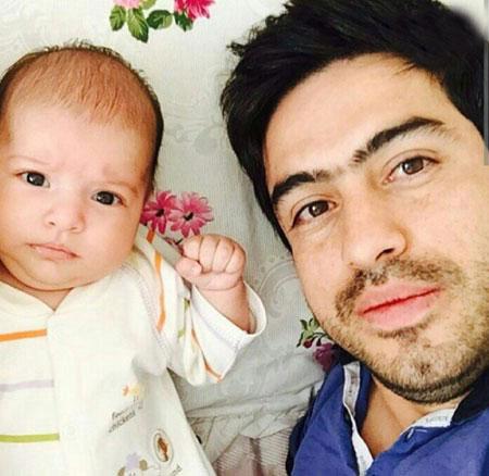 خسرو حیدری در کنار دخترش روشنا / عکس