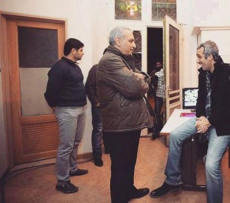 مهران مدیری در کنار امیرمهدی ژوله / عکس