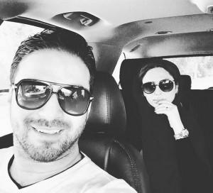 سلفی بابک جهانبخش با همسرش + عکس