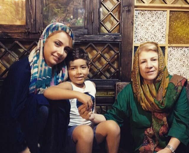 شبنم قلی خانی و خواهرزاده اش / عکس