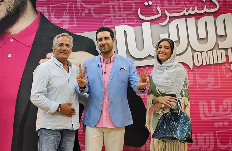بازیگران در کنسرت امید حاجیلی / عکس