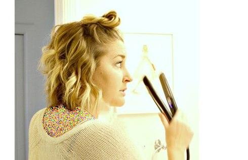 آموزش تصویری فر کردن مو با اتوی مو