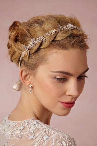مدل های جدید مو عروس با تل و گیره های زیبا (۲)