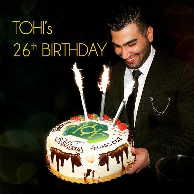 عکس جشن تولد حسین تهی