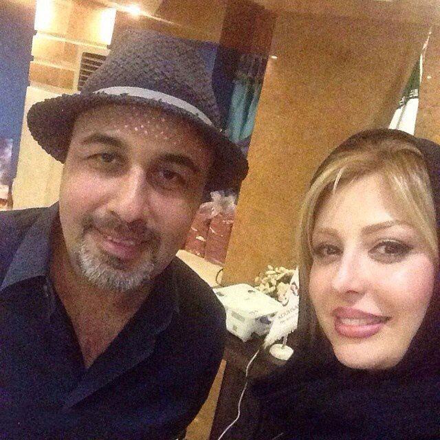 نیوشا ضیغمی در کنار رضا عطاران / عکس