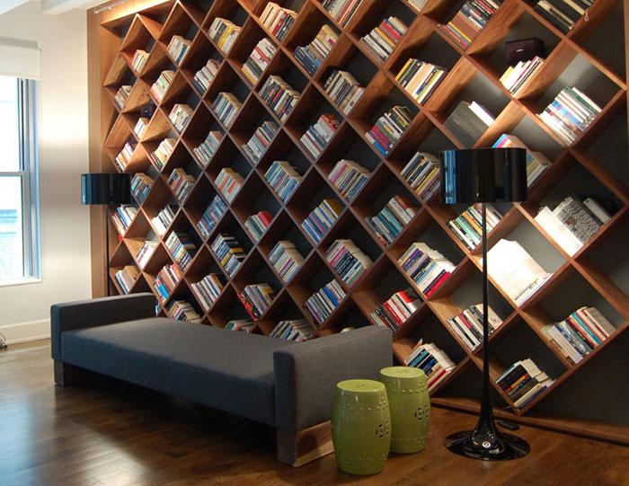 ۲۰ نمونه از خلاقانه ترین قفسه های کتاب