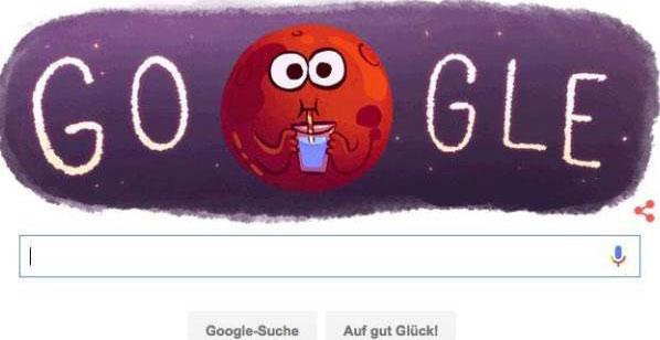 لوگوی جدید گوگل با موضوع زندگی در مریخ / عکس