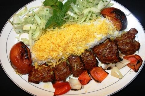طرز تهیه کباب ترش + کته گیلانی