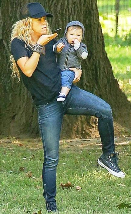 تصاویر جدید شکیرا و پسرش ساشا