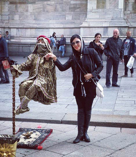 تیپ جدید لیلا بلوکات در خارج از کشور / عکس