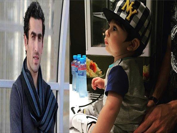 پسر زیبای مجتبی جباری / عکس
