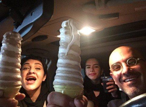 بستنی برجی رویا نونهالی و همسرش! / عکس