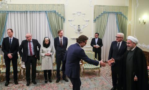تیپ زن آلمانی در دیدار با آقای روحانی / تصاویر