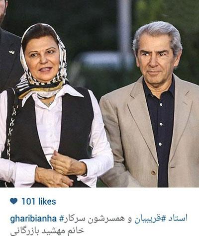 فرامرز قریبیان در کنار همسرش / عکس