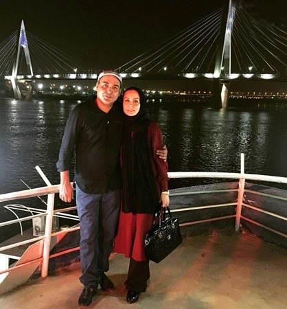 حدیث فولادوند و همسرش در کنار رود کارون / عکس