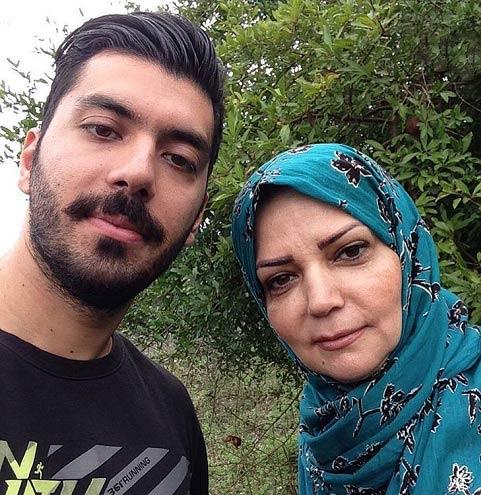 خانم مجری مشهور ایرانی و پسرش / عکس