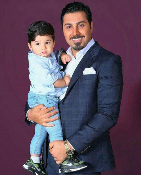 عکس جدید احسان خواجه امیری و پسرش آرشان