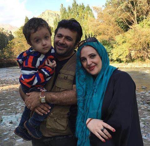 شهرام عبدلی در کنار همسر و فرزندش / عکس