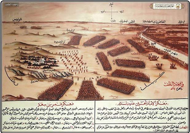 آرایش یاران امام حسین (ع) و سپاه یزید + عکس
