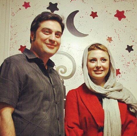 عکس لو رفته از نیوشا ضیغمی و همسرش