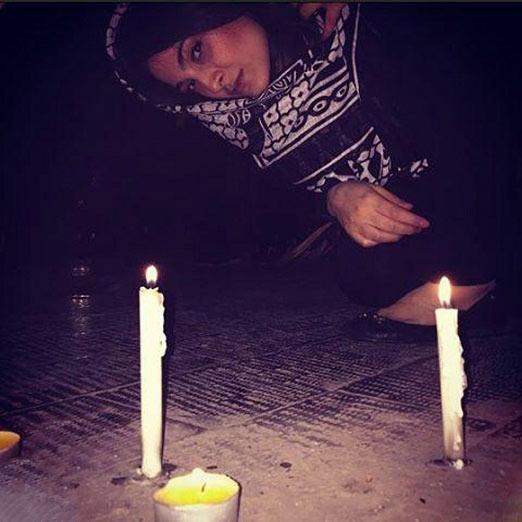 آناهیتا دری در مراسم شام غریبان / عکس