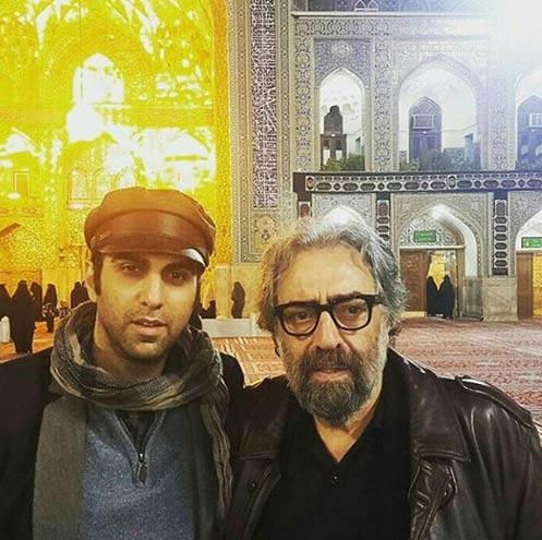 مسعود کیمیایی و پسرش در حرم امام رضا (ع) / عکس