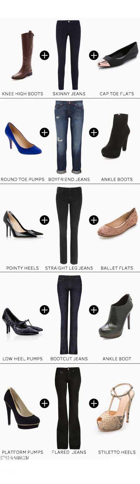 کدام مدل کفش را با کدام شلوار بپوشیم؟