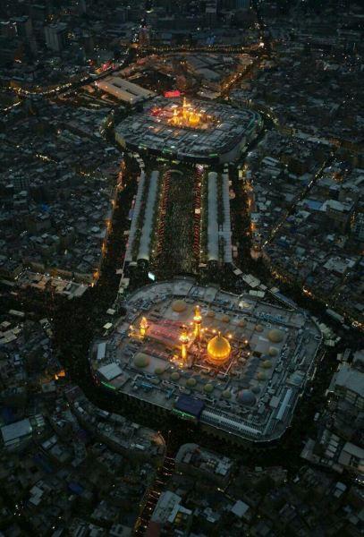 عکس هوایی دیدنی از بین الحرمین