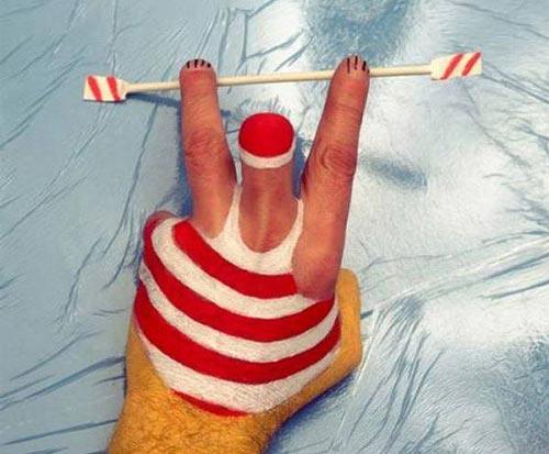 تصاویر جالب و دیدنی نقاشی بر روی دست