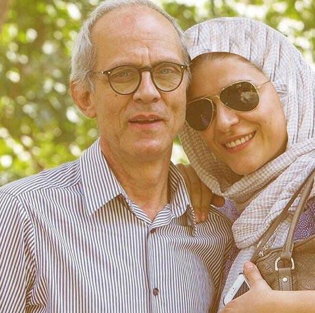 سحر دولتشاهی در کنار پدرش / عکس