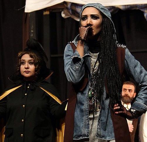 گریم جالب نیکی مظفری در نمایش رم! / عکس