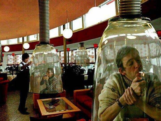 ابتکاری جالب برای کشیدن سیگار! + عکس