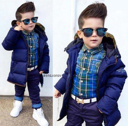اندی کودک ۳ ساله، خوش تیپ ترین پسر دنیای مد! + تصاویر