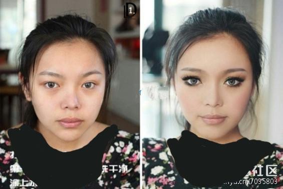 تصاویری از چهره ها قبل و بعد از آرایش