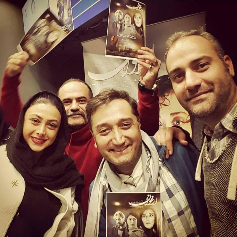 آزاده صمدی در پردیس سینمایی کورش / عکس